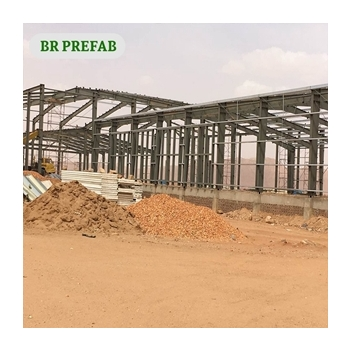 Structural Steel Frame with Concrete panel  for Bus terminal in Africa