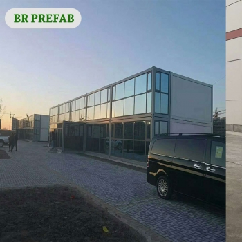 Container Home Kits With Glass Curtain BR06