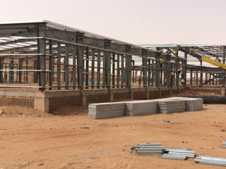 Steel Frame Building For Terminal Station In Sudan