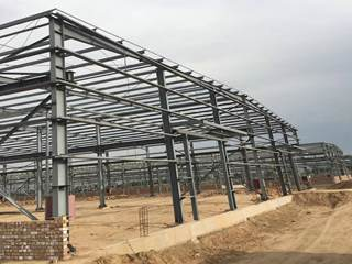 Fabricated Steel Project in insudtrial zone