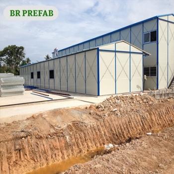Low Cost Prefab House With Inside Steel Column