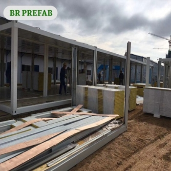 China supplied Cheap Container Homes with rock wool panel
