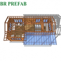 Anti Corrosion and Anti warm Modern Prefab Pine Wooden House